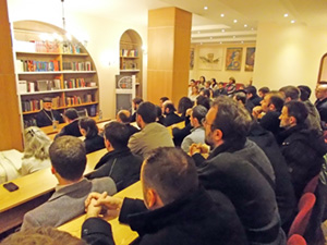 Састанак владике са вероучитељима, новембар 2014.